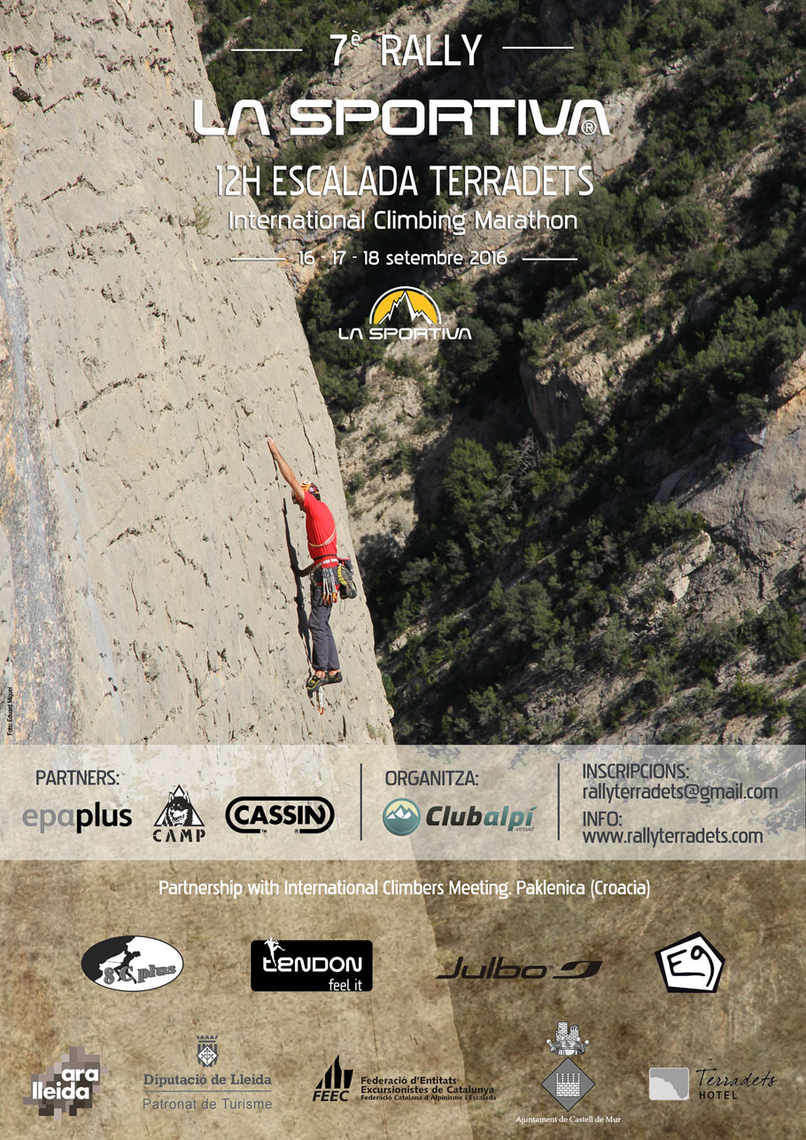Poster for the VII Rally 12h Escalada Terradets