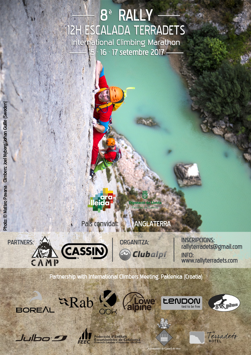 Poster for the VIII Rally 12h Escalada Terradets