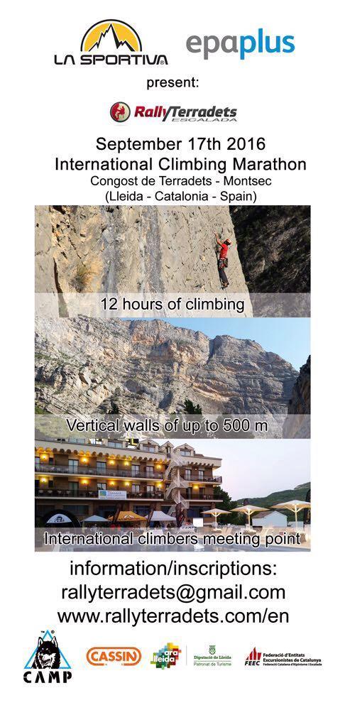flyer del VII Rally 12h Escalada Terradets